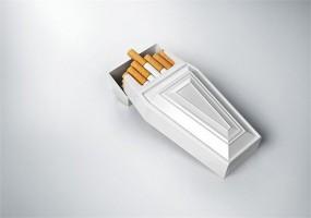 Пачка сигарет в виде гробика