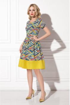 Платье жёлтое в полоску WSS02