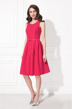 Платье малиновое кружево WSS10