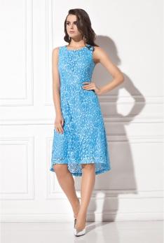 Платье голубое кружево WSS12