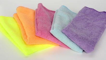 Салфетки из микрофибры — отличный инструмент для уборки дома