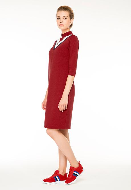 Платье темно красное