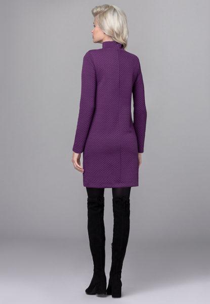 Платье из полисатина фиолетовое