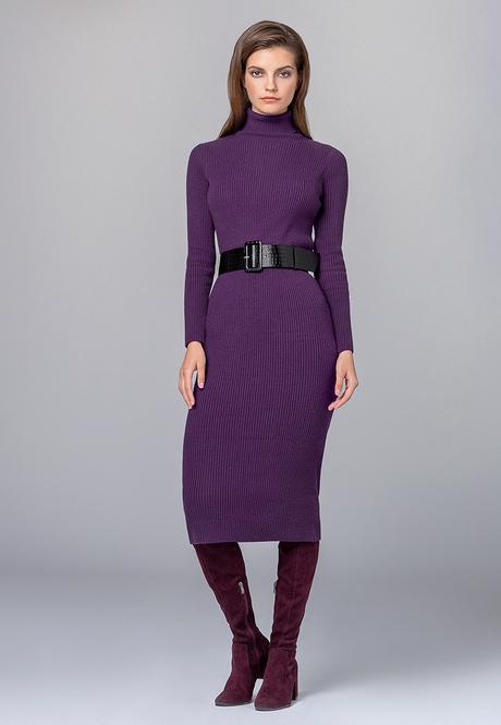 Платье фиолетовое трикотажное