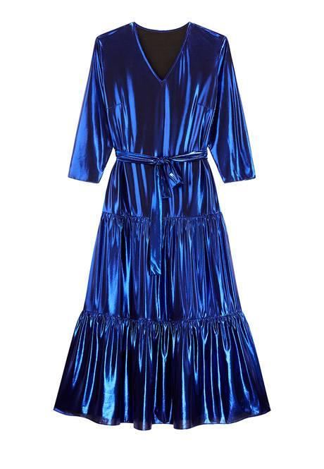 Платье синее длинное
