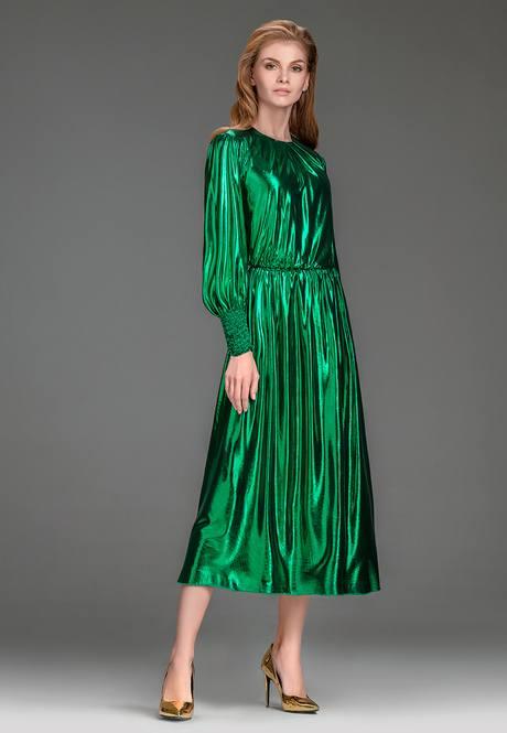 Платье жидкий металл