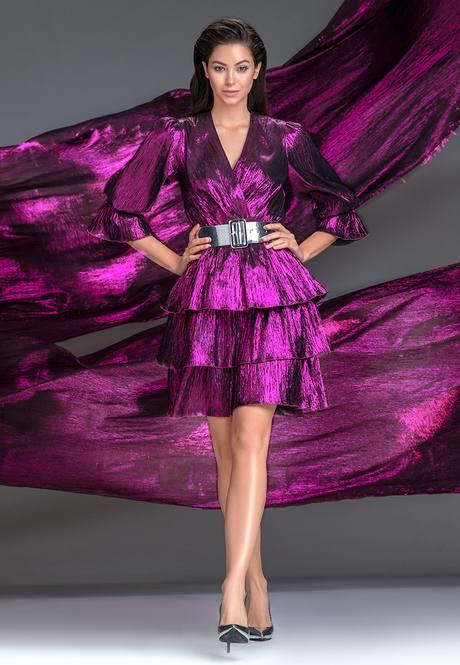 Платье многоярусное